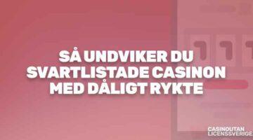 Så undviker du svartlistade casinon online