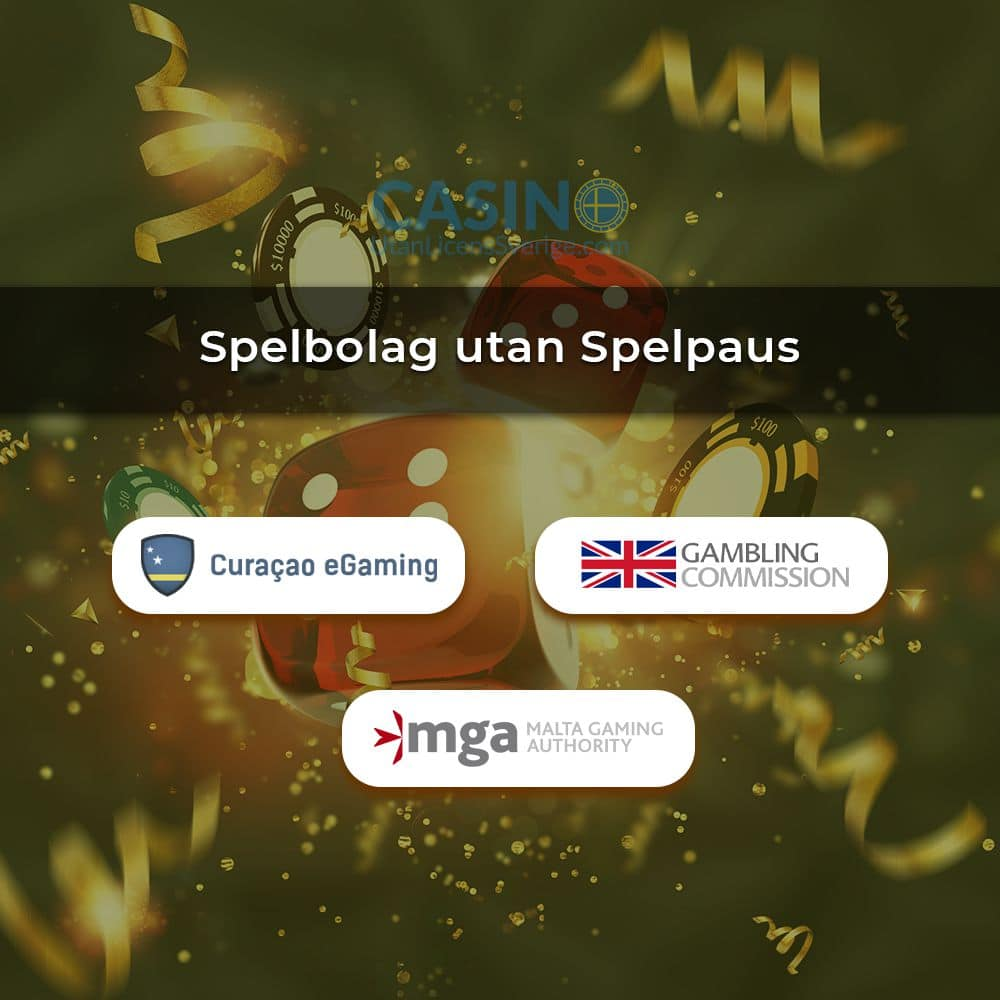 Loggor på olika licenser för spelbolag utan Spelpaus