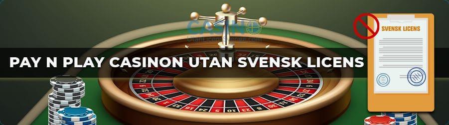 Pay N Play casino utan svensk licens banner