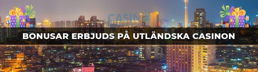 bonusar på utländska casino banner